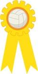 Volleyball Yellow Gold Award Ribbon Tees and Gifts