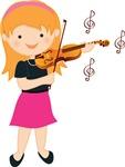 Violin Girl Music Gift Shirts