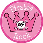 Pirates Rock Crown T-shirt Gifts