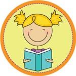 Girl Reading A Book Kids T-shirt