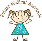 Future Medical Assistant Stick Girl Occupation Tee