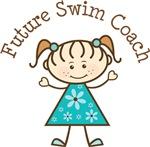 Future Swim Coach Stick Girl Occupation T-shirts