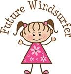 Future Windsurfer Stick Girl Occupation T-shirts