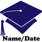 Personalized Navy Blue School Graduation Apparel