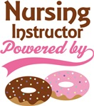Nursing Instructor Powered By Donuts Gift T-shirts