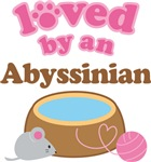 Loved By An Abyssinian Tshirt Gifts
