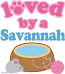 Loved By A Savannah Cat T-shirts