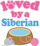 Loved By A Siberian Cat T-shirts