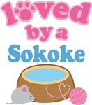 Loved By A Sokoke Cat T-shirts