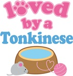 Loved By A Tonkinese Cat T-shirts