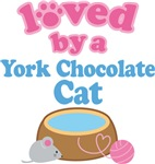 Loved By A York Chocolate Cat T-shirts