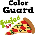 Color Guard Funny Fueled By Pizza Tshirts