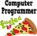 COMPUTER PROGRAMMER Fueled By Pizza T-shirts