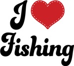 I Heart Fishing T-shirts and Gifts