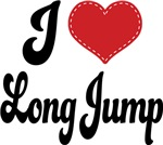 I Heart Long Jump T-shirts and Gifts