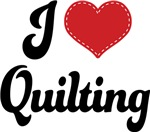 I Heart Quilting T-shirts and Gifts