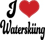 I Heart Waterskiing T-shirts and Gifts