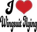 I Heart Wingsuit Flying T-shirts and Gifts