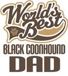 Black Coonhound Dad (Worlds Best) T-shirts