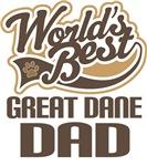 Great Dane Dad (Worlds Best) T-shirts