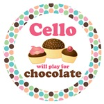 CELLO MOD DOT MUSIC GIFTS AND TEES