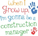 Future Construction Manager Kids T-shirts