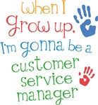 Future Customer Service Manager Kids T-shirts