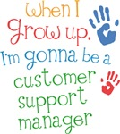 Future Customer Support Manager Kids T-shirts