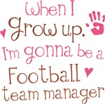 Future Football Team Manager Kids T-shirts