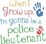 Future Police Lieutenant Kids T-shirts