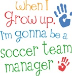 Future Soccer Team Manager Kids T-shirts
