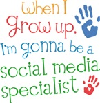 Future Social Media Specialist Kids T-shirts