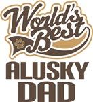 Alusky Dad (Worlds Best) T-shir