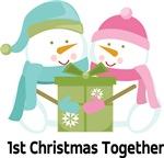 1ST CHRISTMAS TOGETHER SNOWMAN COUPLE TEES