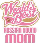 Russian Hound Mom T-shirts