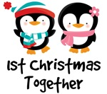 1ST CHRISTMAS TOGETHER PENGUIN COUPLE TEES