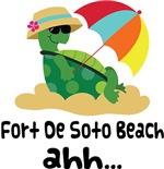 Fort De Soto Beach Florida Turtle Tshirts