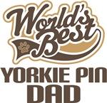 Yorkie Pin Dad (Worlds Best) T-shirts