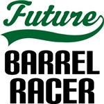 Future Barrel Racer Kids T Shirts