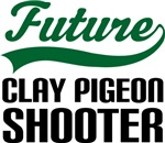 Future Clay Pigeon Shooter Kids T Shirts