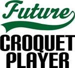 Future Croquet Player Kids T Shirts