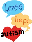 Love, Hope, Autism Shirts and Walk Gear