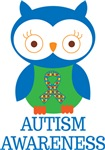 Autism Awareness Owl Kids Tees and Gift Items