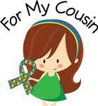 Autism For My Cousin Girls and Womens Tee