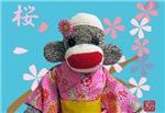 Sakura Sock Monkey