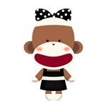 Classy Sock Monkey(Black-White)
