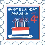 Happy Birthday America Stamp