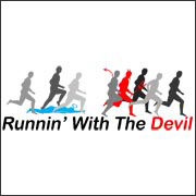 Running With The Devil - funny runner jogger t-shirt