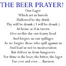 The Beer Prayer, Humorous Beer & Bar Gifts