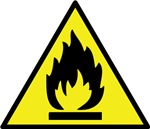 Flammable and Combustible Material Warning Sign